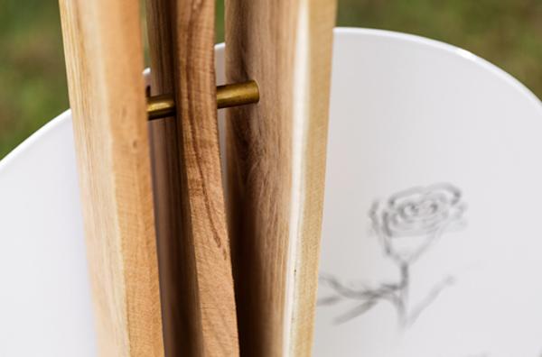 Emaille Grabschild Grafik Holzgrabmal