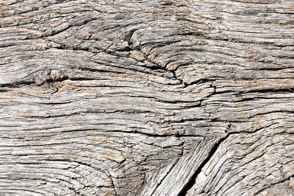 Holzgrabmal Ästhetik vergraut