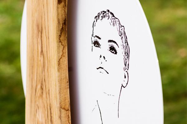 Holzgrabmal Berlin Emaille Grabschild Grafik Illustration