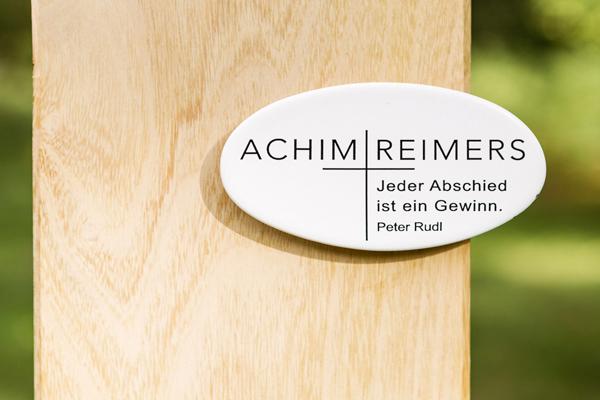 Holzgrabmal Berlin Emaille Grabschild Inschrift